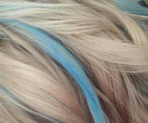 blonde hair and blue streaks image
