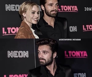 celebrity, sebastian stan, and margot robbie image