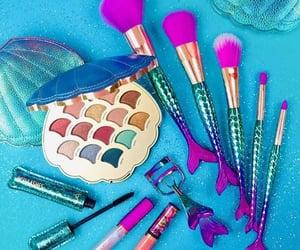 make up, mermaids, and blushes image