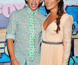 glee, lea michele, and kevin mchale image