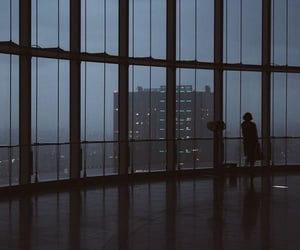 city, alone, and dark image