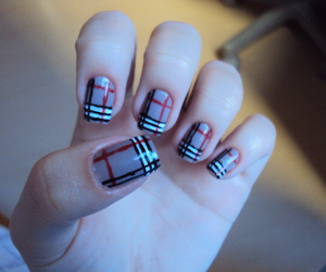 black, Burberry, and nail image