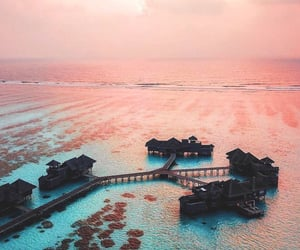 Maldives, blue, and travel image