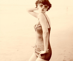 bathing suit, lovely, and vintage image