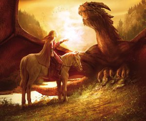 dragon, art, and fantasy image