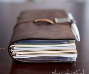 journal, midori, and notebook image