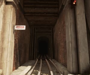 brick, danger, and tunnel image