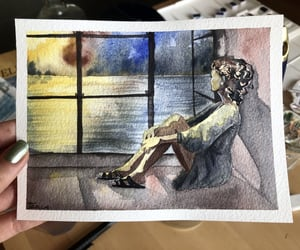 art, watercolour, and drawing image