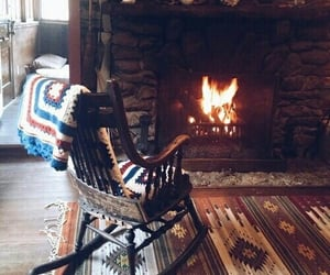 fireplace, winter, and autumn image