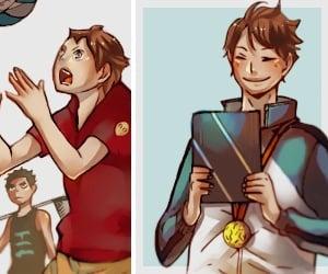 color, anime boy, and haikyuu image