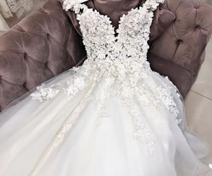 flowers, wedding, and lace image