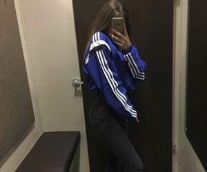 adidas, blue, and grunge image