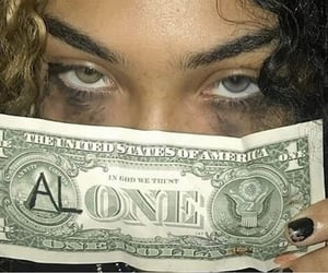 alone, money, and girl image