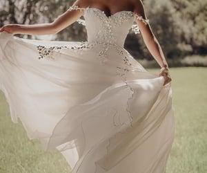 bride, silk, and dress image