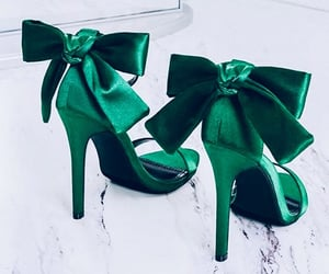 green, fashion, and heels image