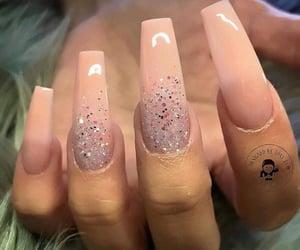 fashion, pink nails, and nails image