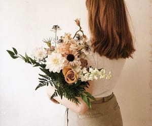 aesthetic, flowers, and hair image
