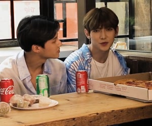 wooyoung, yeosang, and atiny image