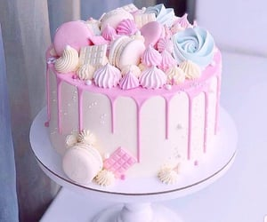 pink, soft, and cake image