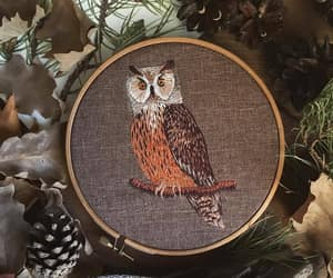autumn, embroidery, and fall image