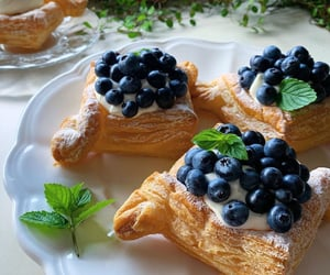 blueberries, cakes, and Cookies image