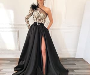 prom gowns, one shoulder prom dress, and prom dresses 2019 image
