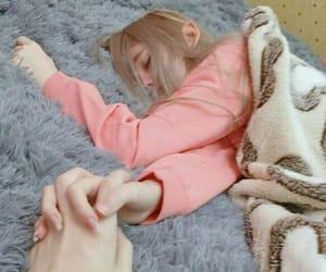 aesthetic, girl, and sleeping image