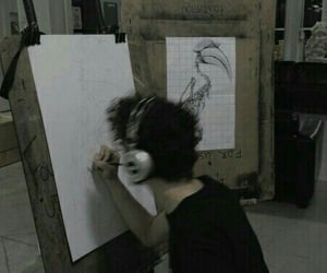 boy and drawing image
