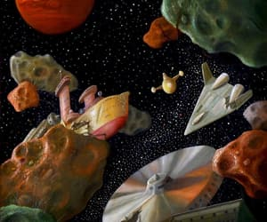 art, cosmos, and paintings image