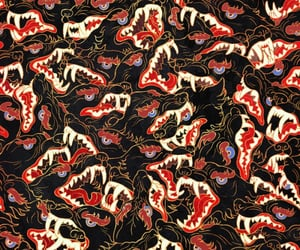 art, pattern, and wolves image