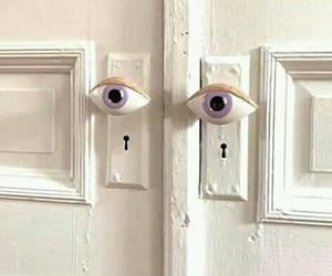 door and eyes image