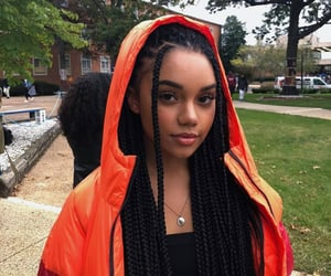 girl, braids, and baddie image