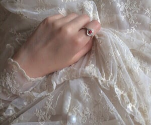 aesthetic, dress, and hand image
