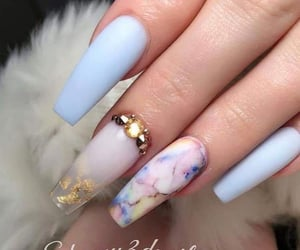 aesthetic, nails, and nail inspo image