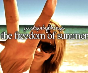summer, freedom, and beach image