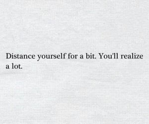 quotes, distance, and words image