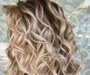 beautiful, blonde, and wavy image