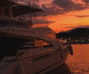 beautiful, Greece, and sunset image