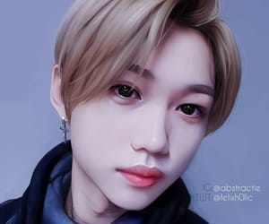 felix, kpop, and fanart image