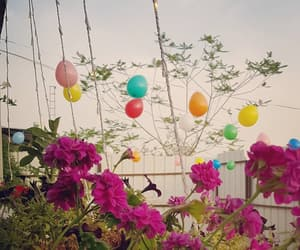 flower, party, and ballon image