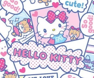 hello kitty, backgrounds, and patterns image