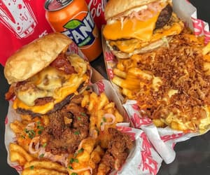 drink, fast food, and food image