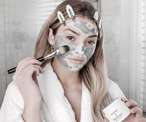 beauty, blonde, and face mask image
