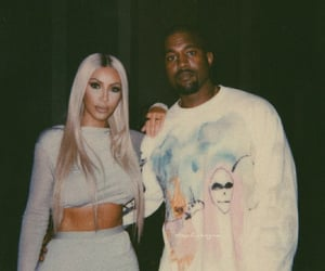 kanye west, kim kardashian, and celebrity image