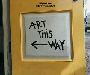 art, yellow, and words image
