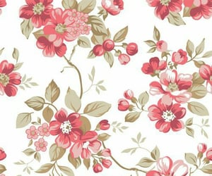 art, background, and flower pattern image