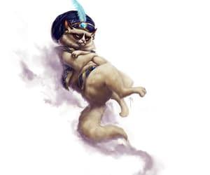 fantasy, grumpy-cat, and djinn image