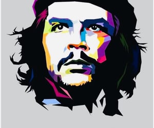 art, Che Guevara, and colours image