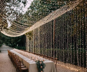 wedding, light, and cute image