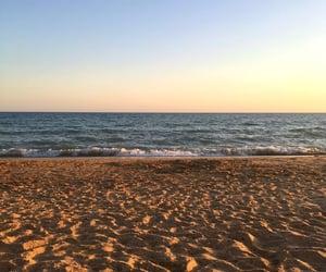 beach, sea, and enjoy image